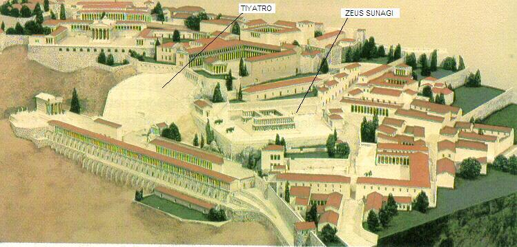pergamon da zeus sunagı ve tiyatro