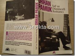 orhan pamuk saf ve düşünceli romancı kitap