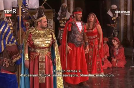 TRT bir tarih yazdı; Canlı opera yayını.